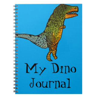 Blue cute dinosaur T-Rex Dino Journal
