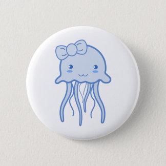 Blue Cute Jellyfish 6 Cm Round Badge