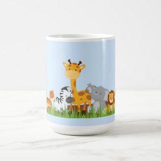 Blue Cute Jungle Baby Animals Mug