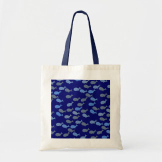 blue cute whales tote bag