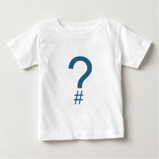 Blue/Cyan Question Tag/Hash Mark Baby T-Shirt