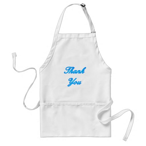 Blue Cyan Thank You Design The MUSEUM Zazzle Gifts Apron