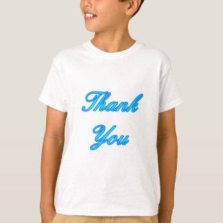Blue Cyan Thank You Design The MUSEUM Zazzle Gifts T-shirt