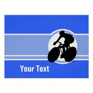 Blue Cycling Poster