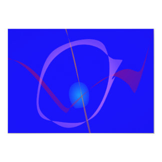 Blue Cygnus Abstract Art Personalized Announcement
