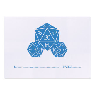 Blue D20 Dice Wedding Place Card Pack Of Chubby Business Cards