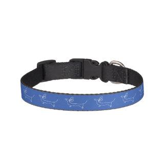 Blue Dachshund drawing small dog collar