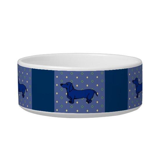 Blue Dachshund Quilt Bowl