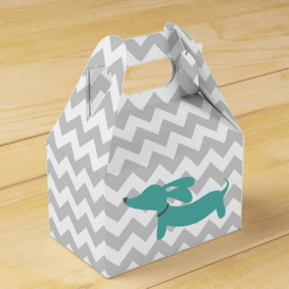 Blue Dachshund Wiener Dog Baby Shower Gift Box