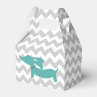 Blue Dachshund Wiener Dog Baby Shower Gift Box Favour Box