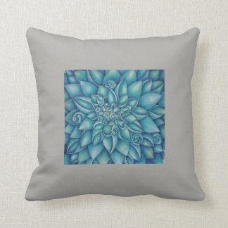 Blue Dahlia Cushion
