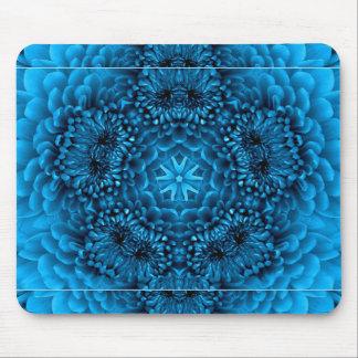 BLUE DAHLIA MOUSE PAD