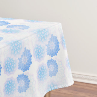 Blue dahlia, pretty tablecloth