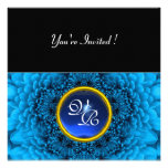 BLUE DAHLIA, SAPPHIRE ,bright  black yellow Personalised Announcements