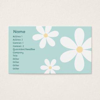 Blue Daisies - Business Business Card