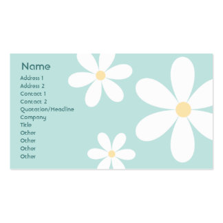 Blue Daisies - Business Pack Of Standard Business Cards