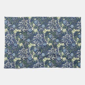 Blue Daisies by William Morris Tea Towel