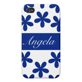 Blue Daisies Hard Shell Case for iPhone 4/4S iPhone 4 Cover
