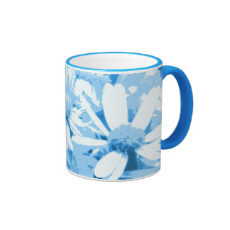Blue Daisies Mugs