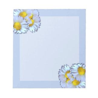 Blue Daisies Notepad
