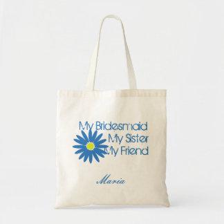 Blue Daisy Customizable Bags