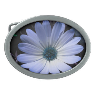 Blue Daisy Flower Belt Buckle