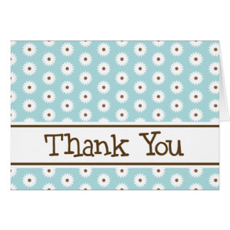 Blue Daisy Thank You Note Cards