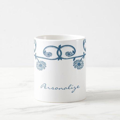 Blue Daisy Vine Coffee Mug