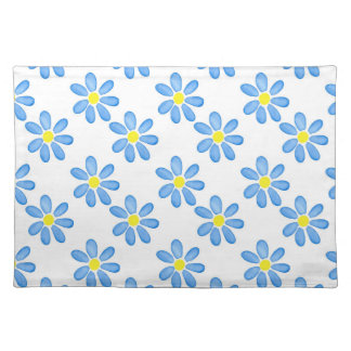 Blue Daisy Watercolor Pattern 2 Placemat