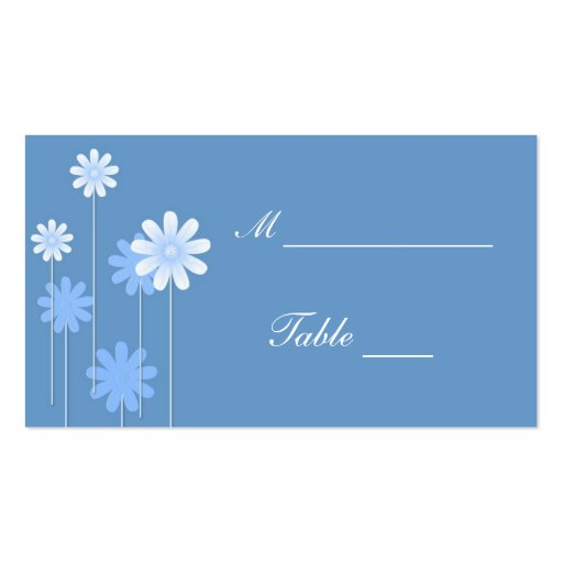 blue wedding place card holders business card