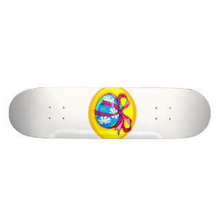 blue daisy wrapped easter egg yellow oval.png skate deck