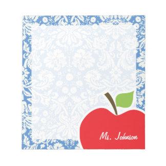 Blue Damask; Apple Notepad