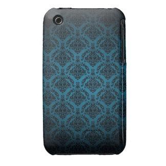 Blue Damask Design Blackberry Curve case