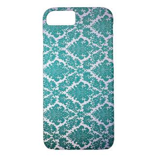 Blue damask iphone 8 case