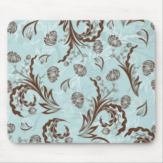Blue Damask Mouse Mat