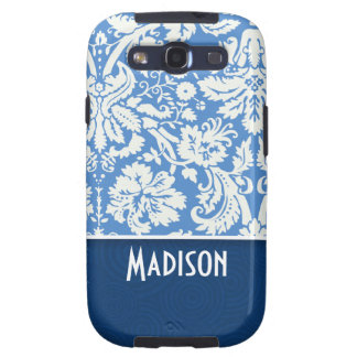 Blue Damask Pattern Samsung Galaxy SIII Cover