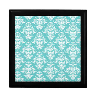 Blue damask pattern vintage girly chic chandelier gift box