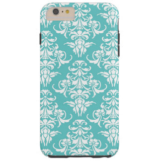 Blue damask pattern vintage girly chic chandelier tough iPhone 6 plus case