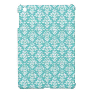 Blue damask vintage wallpaper pattern iPad mini covers