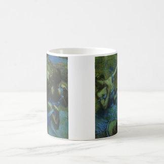 Blue Dancers by Edgar Degas, Vintage Impressionism Basic White Mug