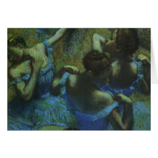 Blue Dancers by Edgar Degas, Vintage Impressionism Card