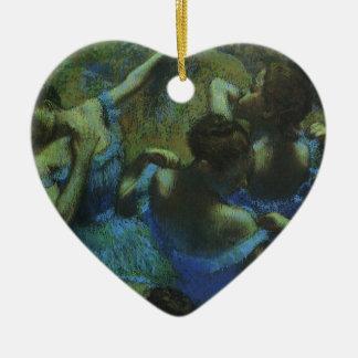 Blue Dancers by Edgar Degas, Vintage Impressionism Christmas Ornament