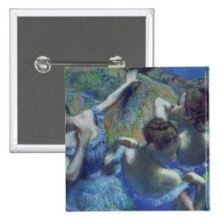 Blue Dancers, c.1899 15 Cm Square Badge