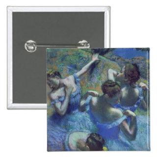 Blue Dancers, c.1899 (pastel) 15 Cm Square Badge
