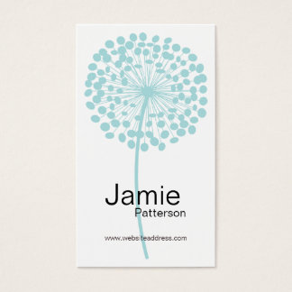 Blue Dandelion Flower Vertical Business Cards