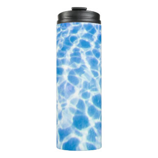 Blue Dappled Water Thermal Tumbler