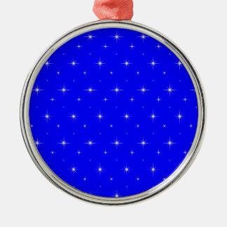 Blue-Dark-And-Bright-Stars-Elegant-Pattern Christmas Tree Ornaments