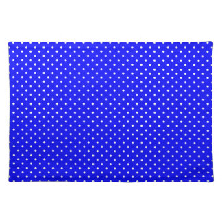 Blue-Dark And-White-Polka-Dots Place Mats
