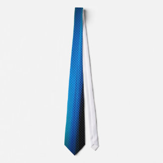 Blue Dark Glowing Abstract Style Tie