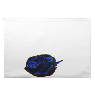 blue dark pepper at bottom food image placemat